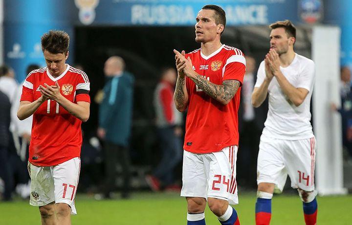 Российская сборная по футболу готовится к матчу с Египтом (видео)