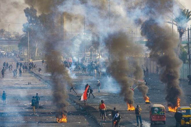 Четыре человека погибли в ходе протестов в Багдаде