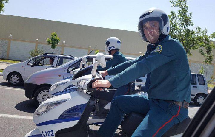 Тошкент кўчаларидаги мото-патруллар (фото)